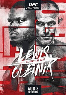 UFC Fight Night: Lewis vs. Oleinik Fight Poster