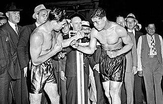 Joe Louis vs. Max Schmeling - The weigh-in for Louis vs. Schmeling, 1938