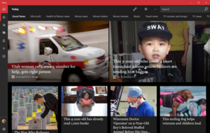 Microsoft News sur Windows 10 en mode sombre