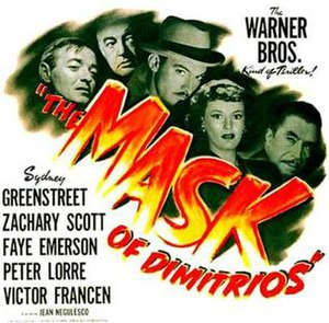 The Mask of Dimitrios - Theatrical release poster