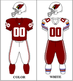 Arizona Cardinals Uniform 1996 2004