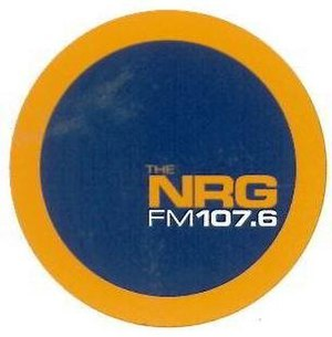 Fire Radio - The NRG FM 107.6 Logo 1999 - 2000