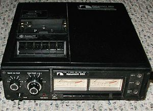 Nakamichi - A Nakamichi 550. Portable, though the size and weight of an early VCR.