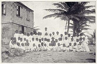 Nevis - Nevis school in 1899.