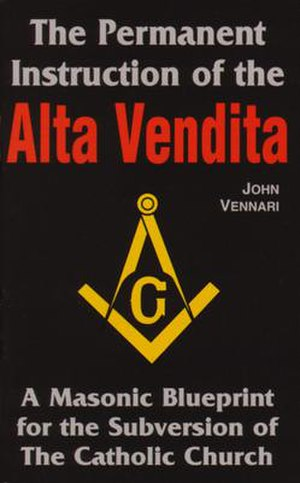 Alta Vendita - Cover of 1999 book on the Alta Vendita which contains important excerpts of the Permanent Instruction, published by Vennari.