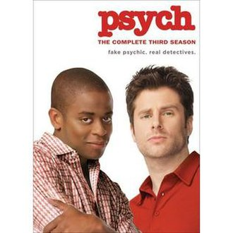 Psych (season 3) - The DVD cover of the third season of Psych