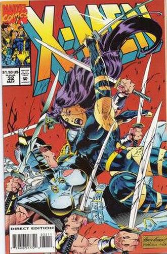 Spiral (comics) - Image: Psylocke battles Spiral
