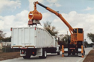 Grapple truck - Rear loader and truck system
