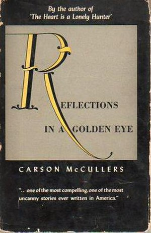 Reflections in a Golden Eye (novel) - First edition cover with paper and cellophane dust jacket