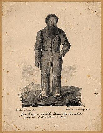 Remexido - José Joaquim de Sousa Reis (a.k.a. Remexido): an engraving ca. 1836
