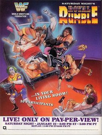 Royal Rumble (1994) - Promotional poster featuring various WWF wrestlers