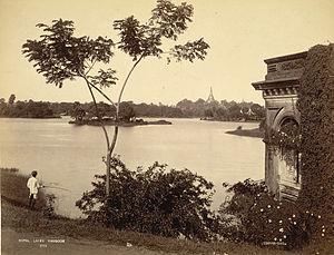 Kandawgyi Lake - Kandawgyi Lake in 1895