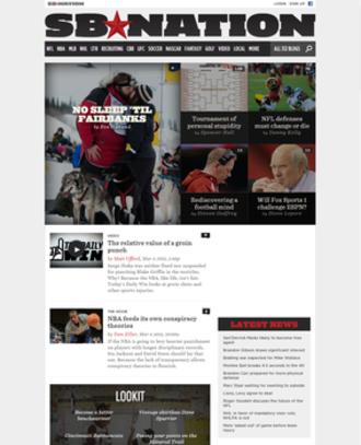 SB Nation - Image: SB Nation Screenshot
