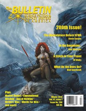 Science Fiction and Fantasy Writers of America -  Front cover of no. 200 (Winter 2013), the issue that sparked the 2013 controversy