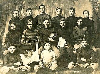 Scouting in Pennsylvania - Warren, Pennsylvania, Boy Scout basketball team, 1912