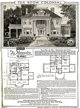 Sears Catalog Home - Catalog image and floorplan of Sears Magnolia model