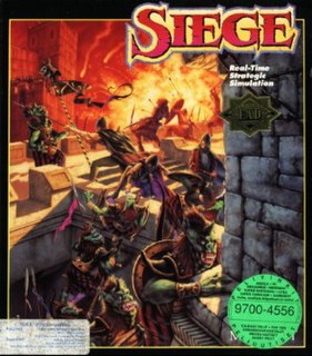 <i>Siege</i> (video game) computer game developed by Mindcraft in 1992 for the PC DOS/MS-DOS