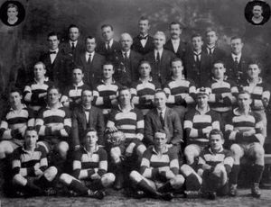 Charles McMurtrie - In retirement back row middle, St George trainer 1921