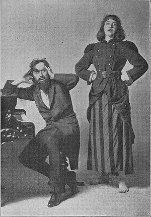 Trilbyana - Svengali and Trilby in the London theatrical production of 1895