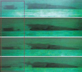 ROKS Cheonan sinking - Thermal image of Cheonan sinking