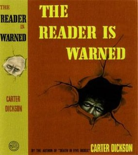 <i>The Reader is Warned</i> book by John Dickson Carr