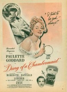 <i>The Diary of a Chambermaid</i> (1946 film) 1946 film by Jean Renoir