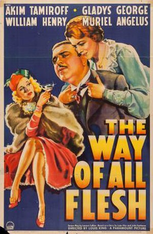 The Way of All Flesh (1940 film) - Theatrical release poster