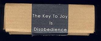 The Key to Joy Is Disobedience - Image: Thekeytojoyisdisobed ience