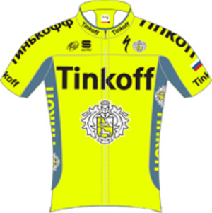 Tinkoff - Image: Tinkoff jersey