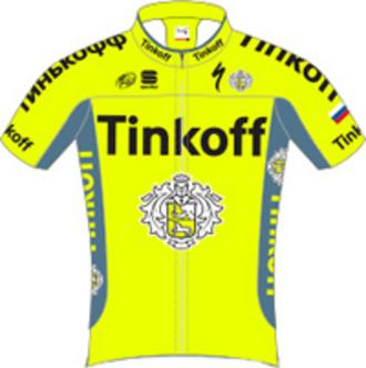 Tinkoff - Image: Tinkoff jersey