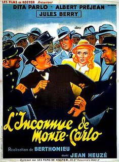 <i>Unknown of Monte Carlo</i> 1939 film directed by André Berthomieu