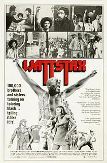 <i>Wattstax</i> 1973 film by Mel Stuart
