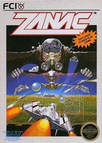 Zanac - Box art of Zanac for the NES