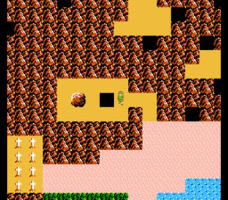 Zelda II: The Adventure of Link - A screenshot of the overworld