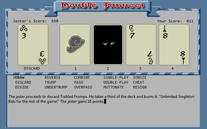 Zork Zero - Zork Zero Double Fanucci mini-game (in Windows Frotz interpreter) in progress.