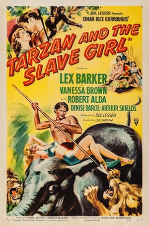 Tarzan and the Slave Girl - Italian theatrical poster
