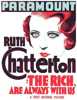 <i>The Rich Are Always with Us</i> 1932 film by Alfred E. Green