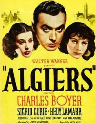 Algiers (film) - theatrical release poster