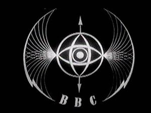 Logo of the BBC - The bats' wings from 1932 to 1958.
