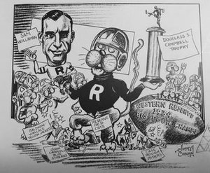 Sam Willaman - Sam Willaman cartoon winning the Big Four Conference in 1934