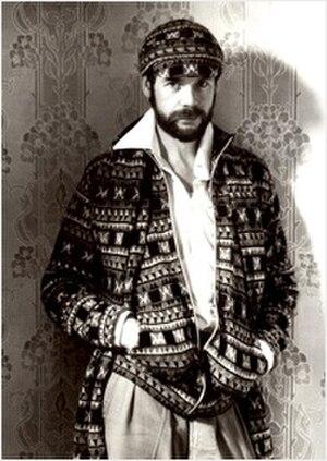 Bill Gibb - Bill Gibb in 1976 wearing knitwear of his own design
