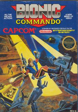 Bionic Commando (NES video game) - North American box art