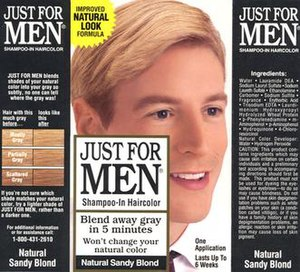 Just for Men - Image: Box of Just For Men hair color