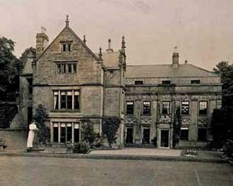 Brymbo Hall - Eastern side of the house, taken in 1908