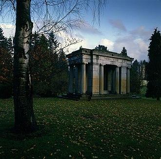 Evergreen Washelli Memorial Park - Judge Thomas Burke Monument at Evergreen Washelli Memorial Park
