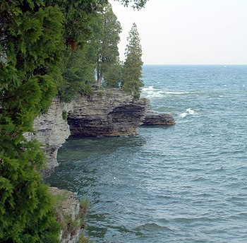 Door County's Peninsula's Lake Michigan side