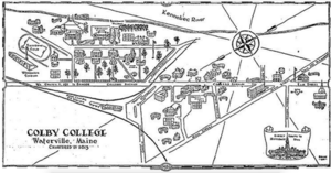 Map of Old Colby Campus in Downtown Waterville