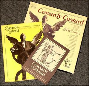 Cowardy Custard - Cowardy Custard book and album with the same image of Coward. The programme has the Mermaid Theatre's standard cover.