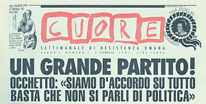 L'Unità - The header of the first issue of Cuore.