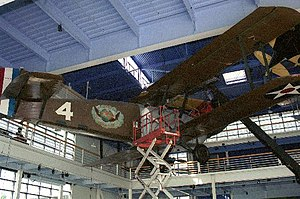 Douglas World Cruiser - The New Orleans being installed at the Museum of Flying, 2012.